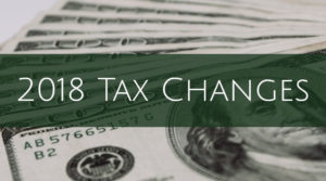 2018 IRS Tax Changes